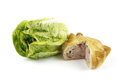 Salad Lettace and Pork Pie Stock Photography