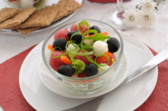 Salad of lettuce, cherry tomatoes, Royalty Free Stock Images