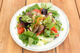 Salad with liver Stock Photos