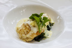 Salad lobster fish with cream Stock Photography