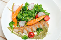 Salad  with mackerel Stock Photography