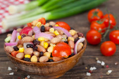 Salad made of beans, chickpeas and corn Royalty Free Stock Photography