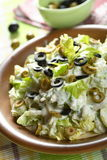 Salad made from celery and olives Royalty Free Stock Photo