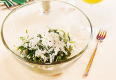 Salad made of fresh tarragon and green grapes. Salad with fresh tarragon and grapes Stock Images