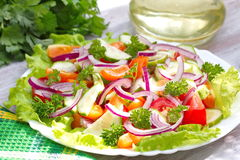 Salad made of fresh vegetables Royalty Free Stock Images