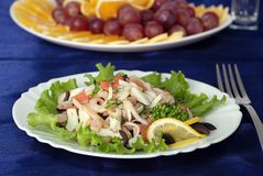 Salad Maldive. Lunch; dinner; cooking culture; kitchen royalty free stock photo