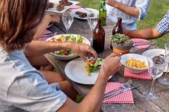 Salad man dish Stock Photos