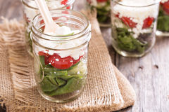 Salad in mason jars Royalty Free Stock Photo
