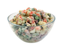 Salad with mayonnaise Stock Photos