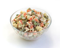 Salad with mayonnaise Stock Image