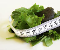 Salad with Measurement Tape Royalty Free Stock Images