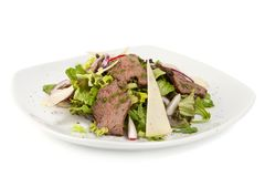 Salad with meat and cheese Stock Images