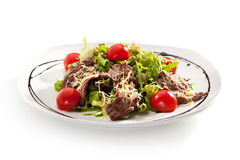 Salad with Meat Royalty Free Stock Images
