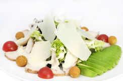 Salad with meat and cheese Stock Photography