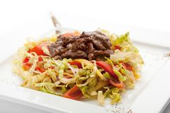 Salad with Meat Royalty Free Stock Image