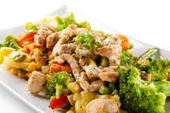 Salad with meat Royalty Free Stock Photos
