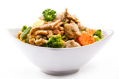 Salad with meat Stock Image