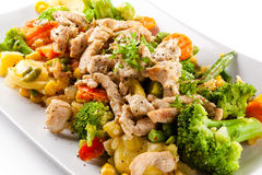 Salad with meat Stock Photos