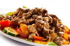 Salad with meat Royalty Free Stock Photography