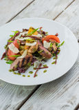 Salad with meat and mushrooms Royalty Free Stock Photo