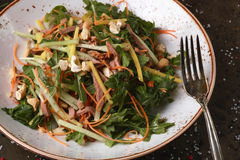 Salad with meat and nuts. royalty free stock photography
