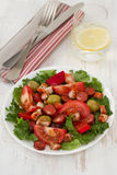 Salad with meat and olives Stock Images