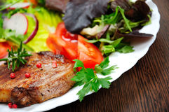 Salad and meat Royalty Free Stock Photo
