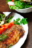 Salad and meat Royalty Free Stock Photography