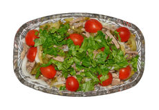 Salad with meat and vegetables Stock Photos