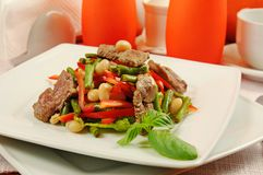 Salad with meat and vegetables Royalty Free Stock Photo