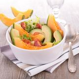 Salad with melon and avocado Stock Photos