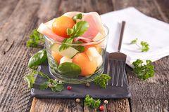 Salad with melon Stock Photography