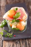 Salad with melon, Royalty Free Stock Images