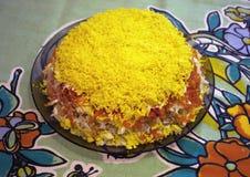 Salad Mimoza Stock Images