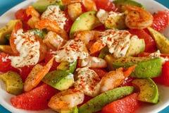 Salad - a mix of avocado, shrimp and grapefruit. Stock Image