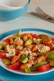 Salad - a mix of avocado, shrimp and grapefruit. Stock Photo