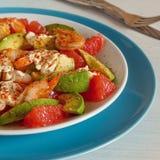 Salad - a mix of avocado, shrimp and grapefruit. Stock Photography