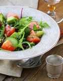 Salad mix with avocado tomato Royalty Free Stock Photos