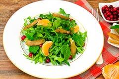 Salad Mix Batavian, Frise, Radicchio, Chicory. And Chicken Dietary Meal Studio Photo Stock Images