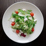 Salad mix with goat cheese Royalty Free Stock Images