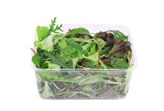 Salad mix. Isolated on a white background Royalty Free Stock Photography