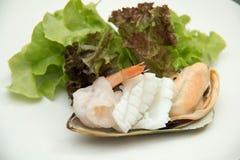 Salad Mix shrimp prawn shellfish Royalty Free Stock Photo