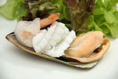 Salad Mix shrimp prawn shellfish Stock Photos