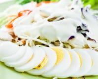 Salad mixed fresh. Closeup detail Royalty Free Stock Photo