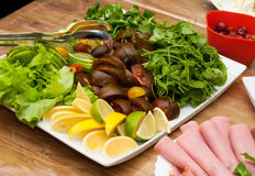 Salad mixture fresh plate Stock Photo