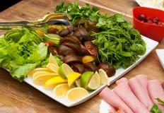 Salad mixture fresh plate Stock Photo
