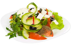 Salad with moldavian Cheese Stock Photo