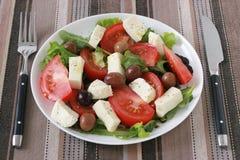 Salad with mozzarella Royalty Free Stock Photo