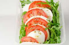 Salad with mozzarella Royalty Free Stock Images
