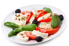 Salad with mozzarella Stock Photo